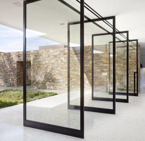 Pivoting Glass Door